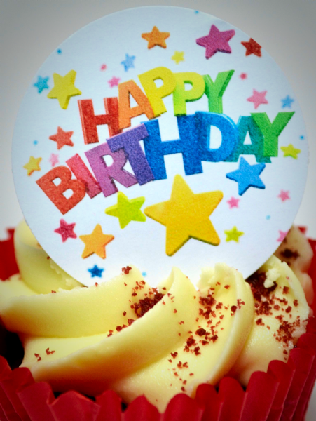 Edible cake toppers decoration - Happy Birthday
